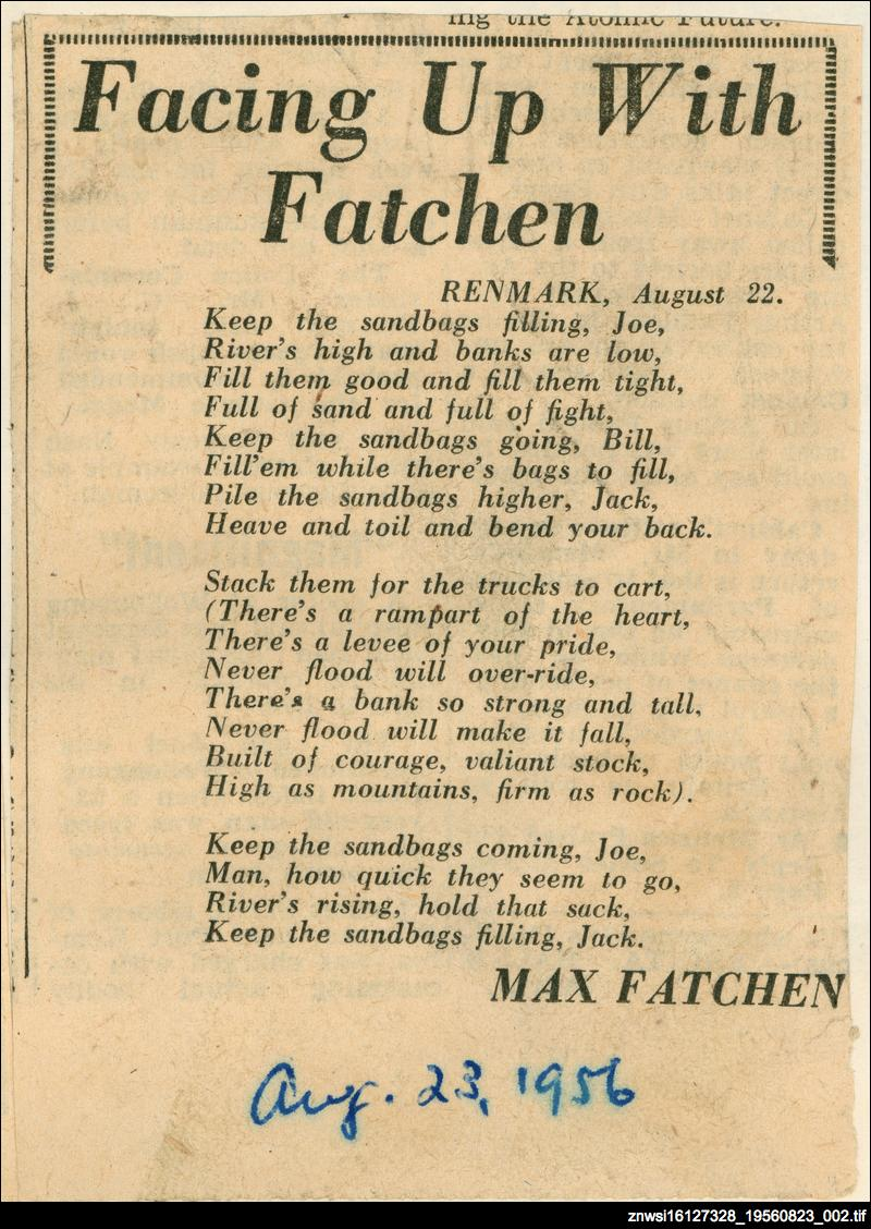 Facing up with Fatchen: Renmark