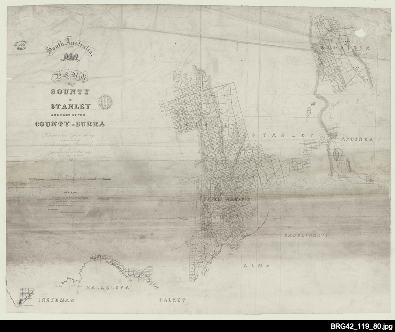 Plan of the County of Stanley and part of the County of Burra  [South Australia Company map]