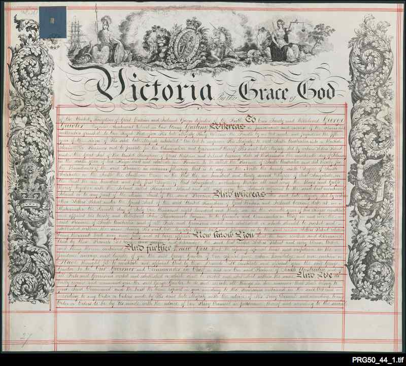 Governor Gawler's warrant and seal