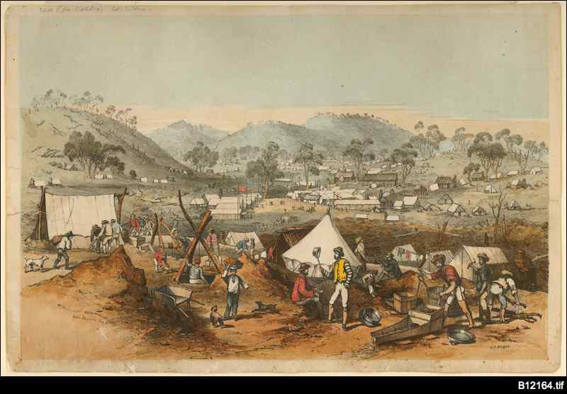 Effect of Victorian gold rush on South Australia