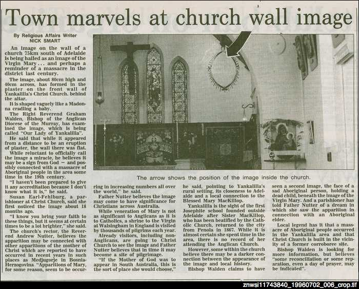 Town marvels at church wall image