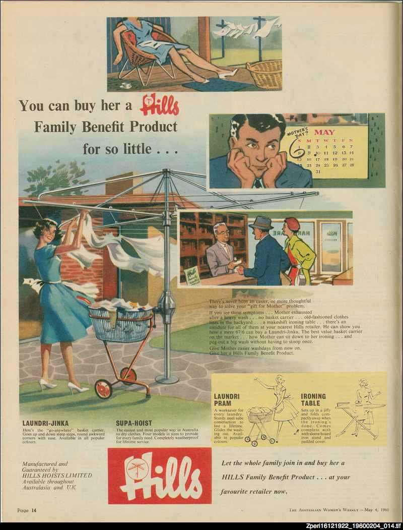 Advertisement for Hills products