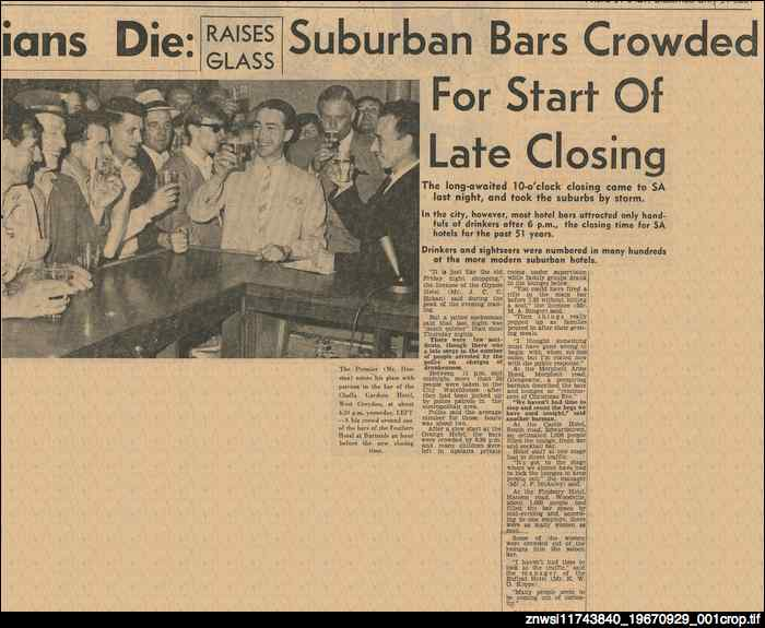 Suburban bars crowded for start of late closing