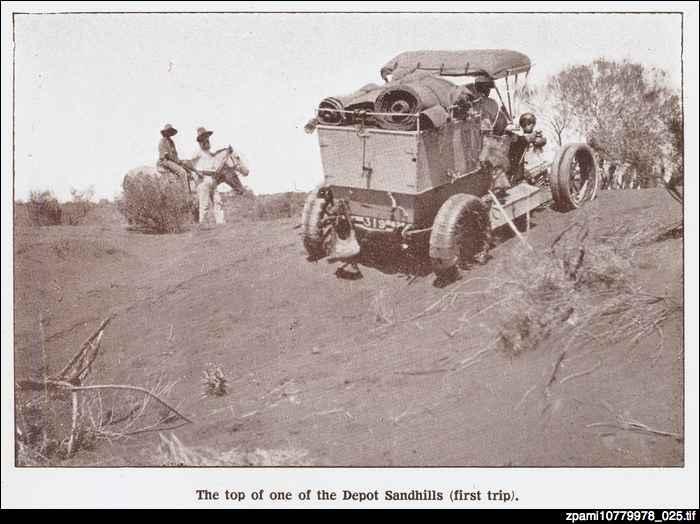Car climbing the Depot Sandhills, 1907