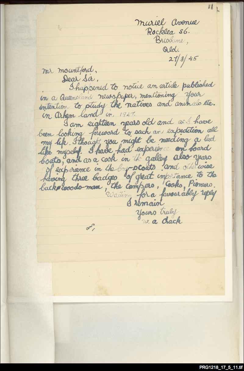 02. Letter of application