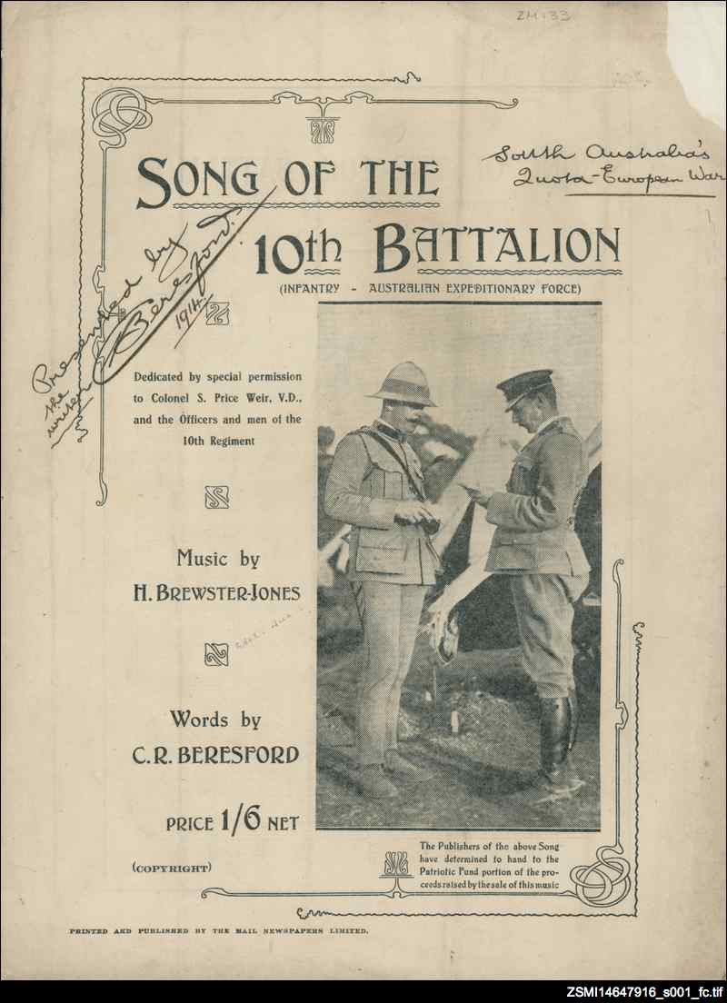 Song of the 10th Battalion