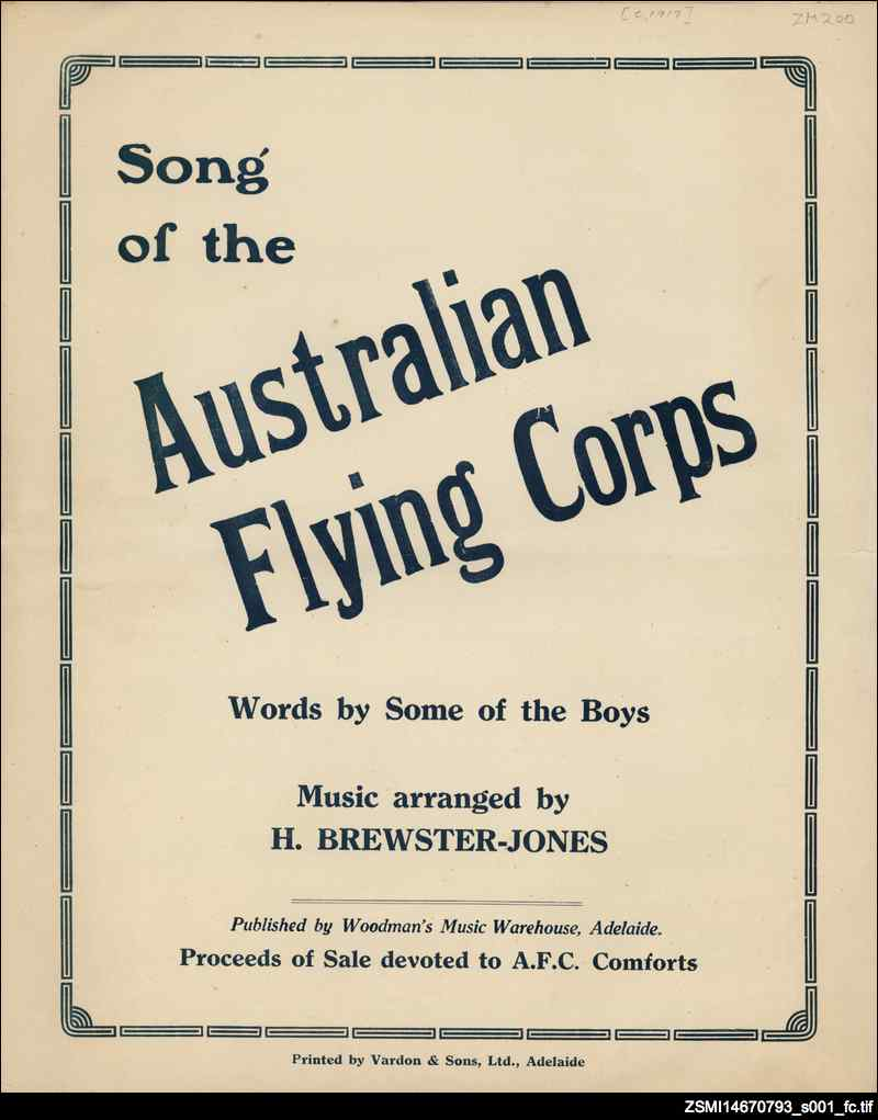Song of the Australian Flying Corps [music]