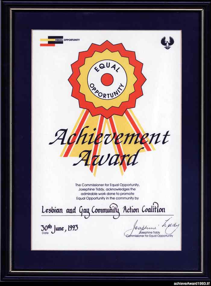 Equal opportunity achievement award