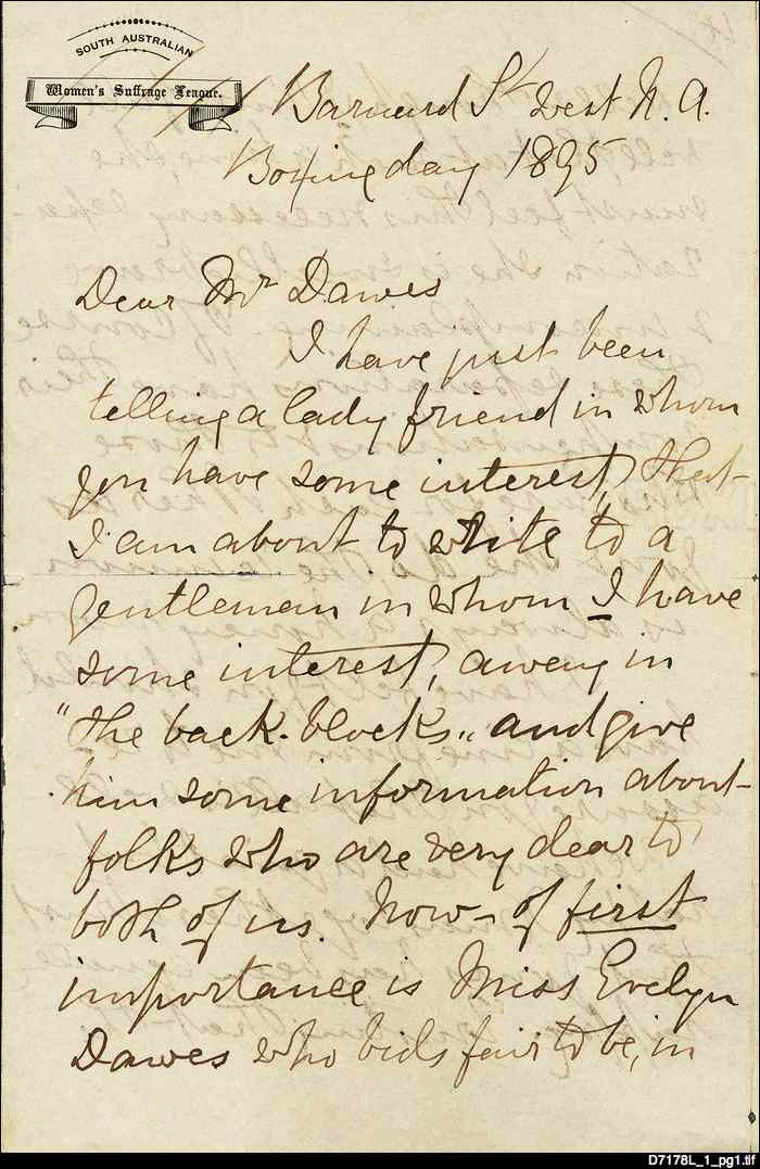 Letter from Mary Lee