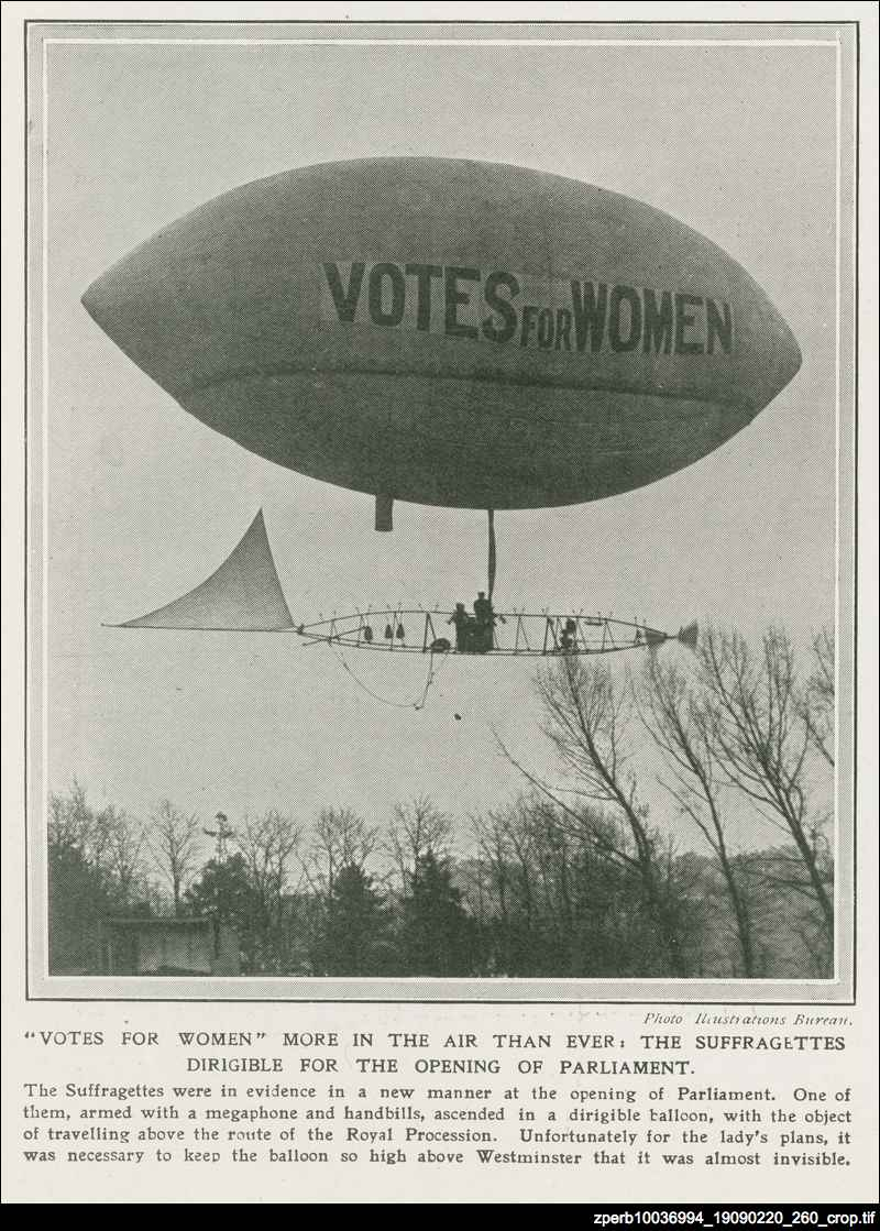 """Votes for women"" more in the air than ever"