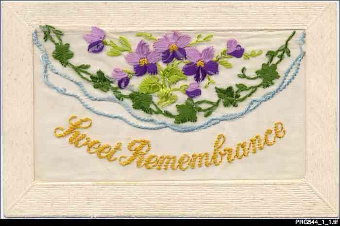 Sweet remembrance postcard