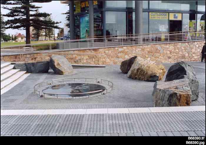 'Chorus of stones' memorial at Glenelg