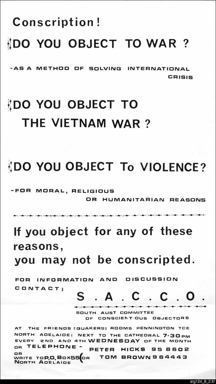 Conscription! Do you object to war?