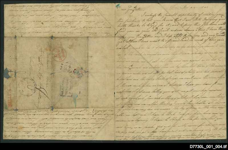 Letter to his grandfather [24 February 1840, p. 1]