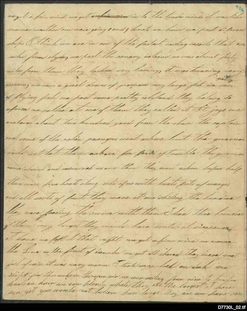 Letter to his grandfather [24 February 1840, p. 2]