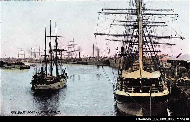 Port Pirie wharves in 1910