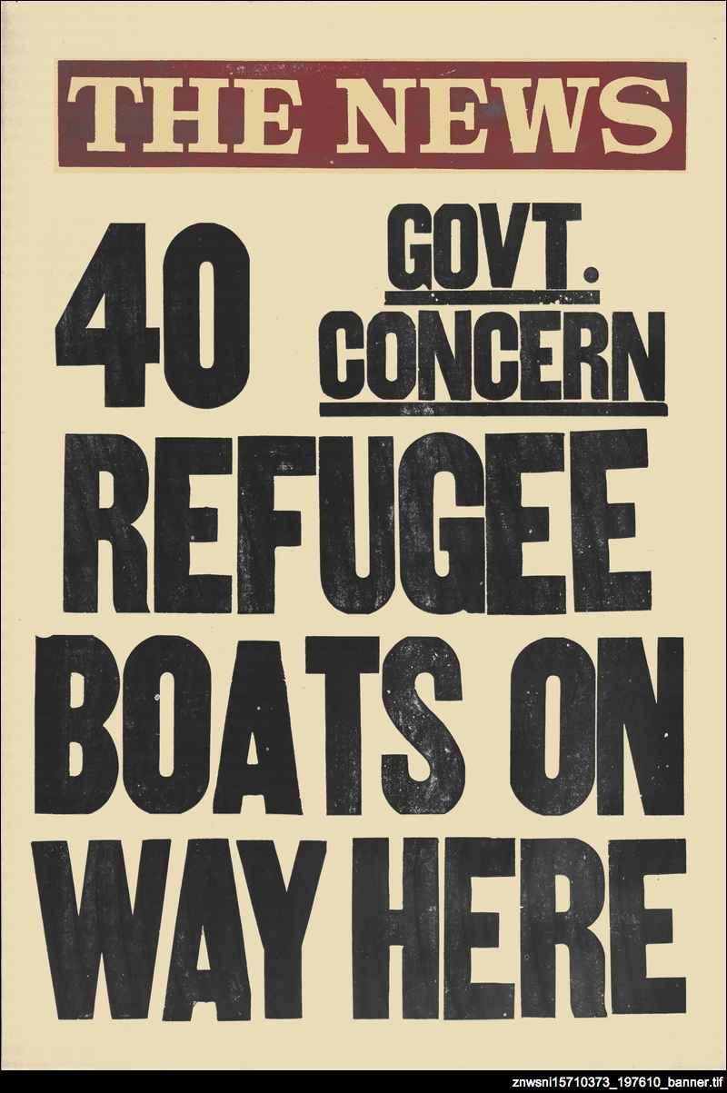 40 refugee boats on way here : Govt. concern