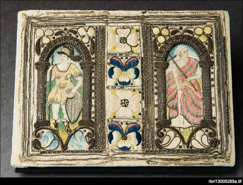 English embroidered book binding of the 17th century ...