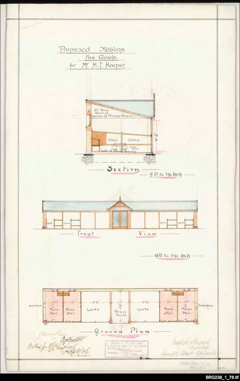 Hoeper's stables [architectural drawing]