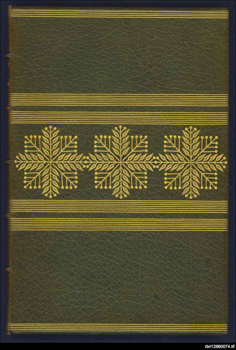 Green gilt binding