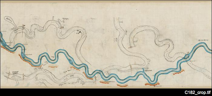 Sketch of the River Murray, Blanchetown to Wentworth [map]