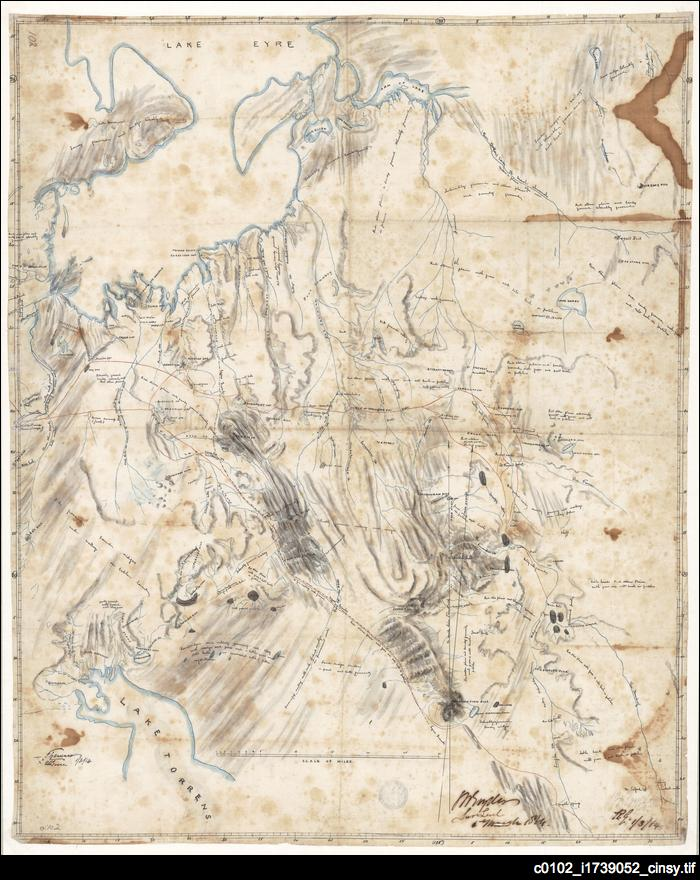 Goyder's hand-drawn map