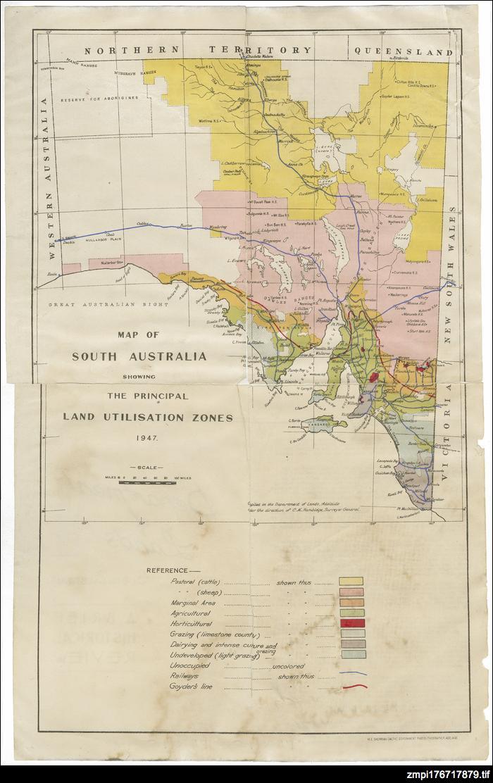Principal land utilization zones