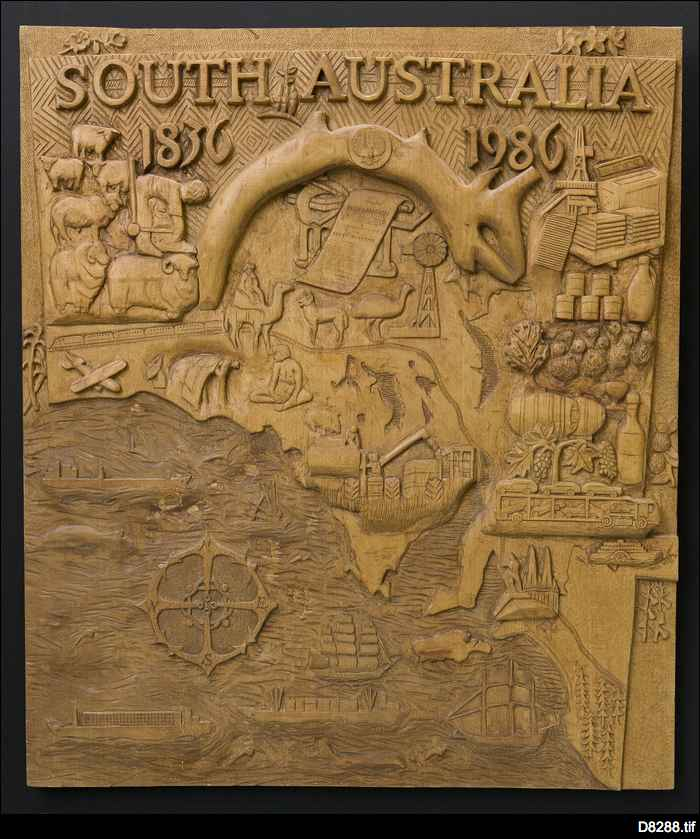 Wooden panel for 150th anniversary
