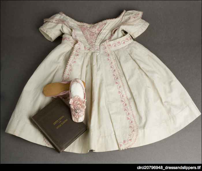 Child's dress and slippers