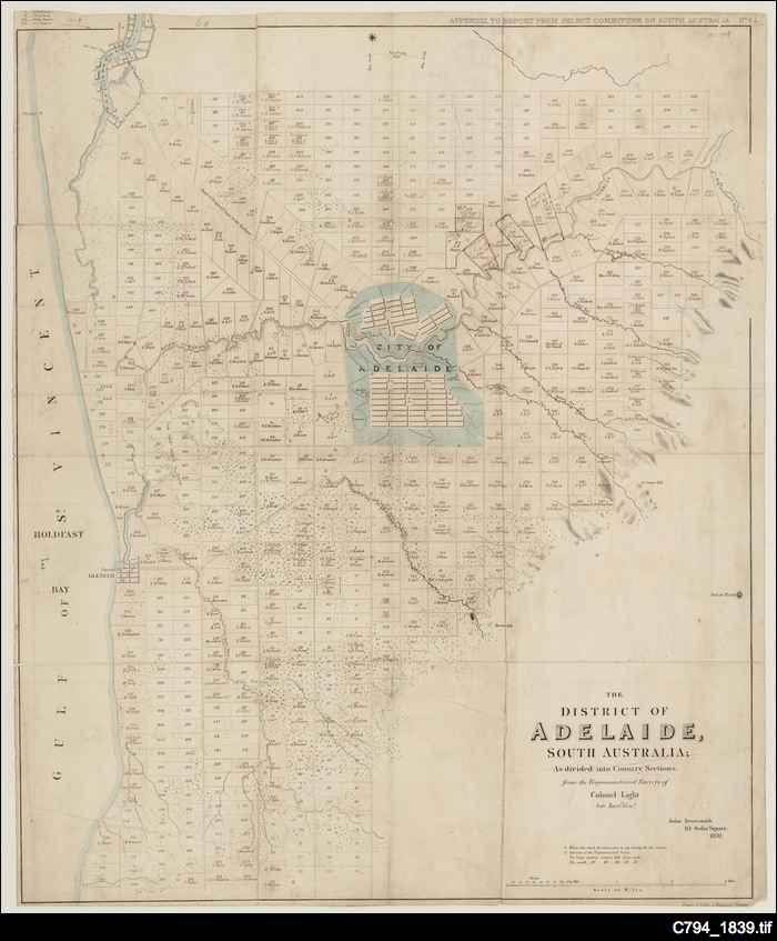 Adelaide : Light's map