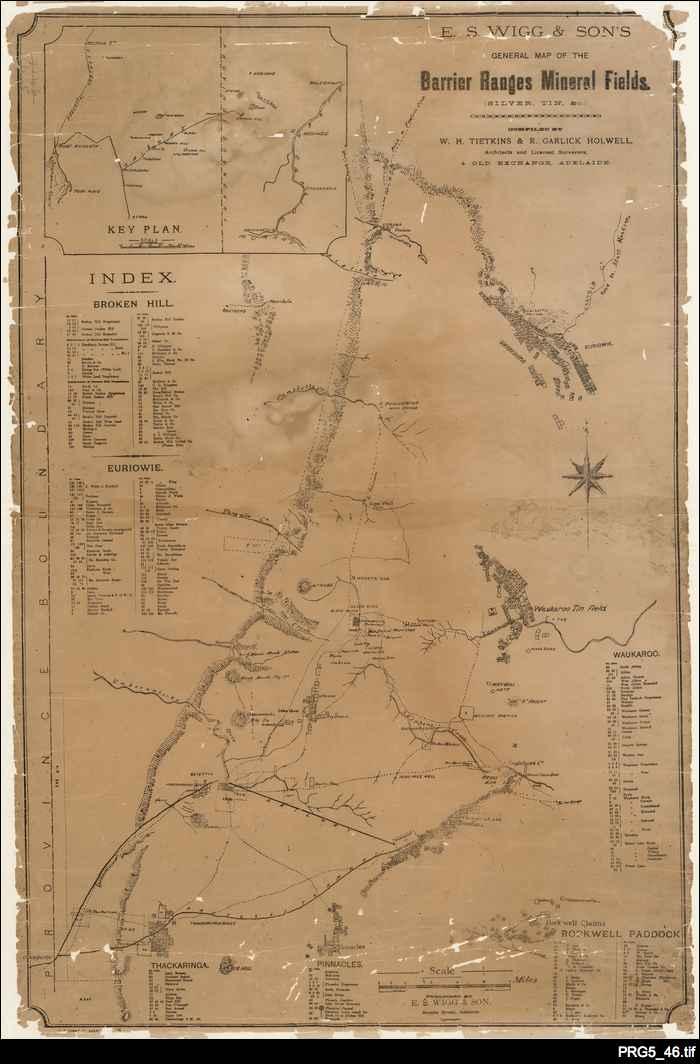 Broken Hill mining map