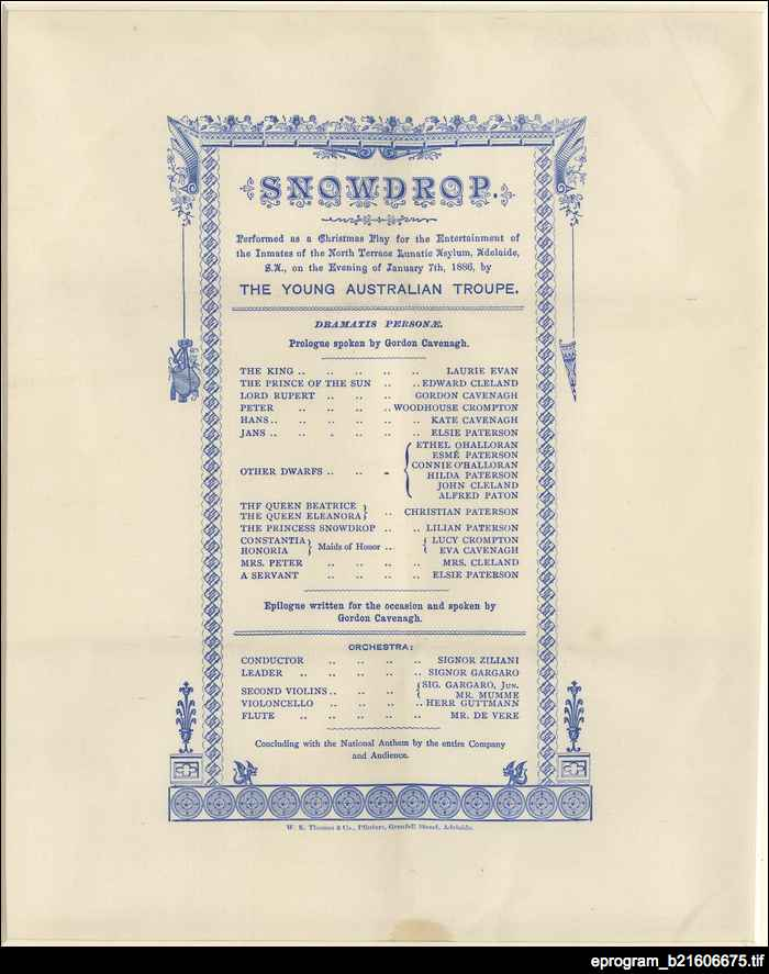 Snowdrop : theatre program