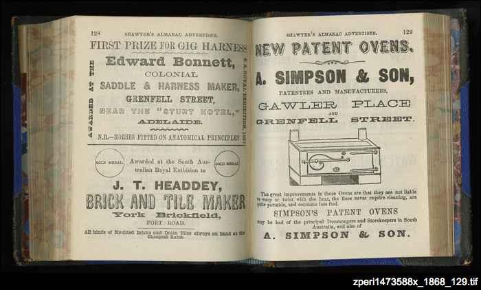 Simpson's new patent ovens