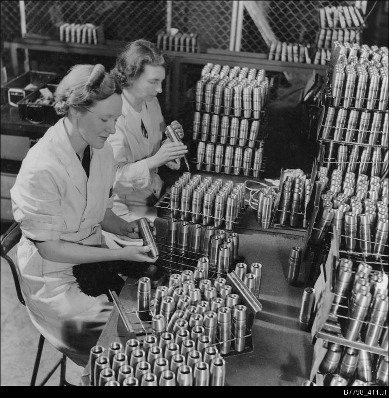 Munitions work in World War Two
