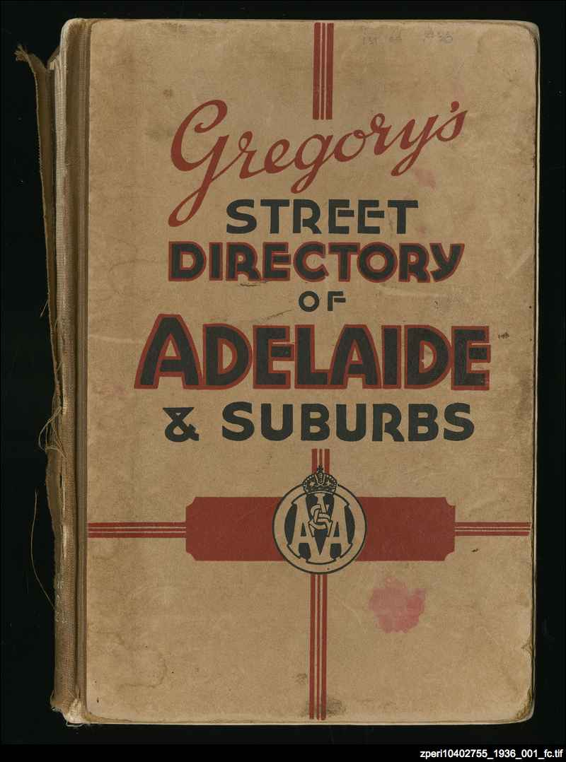 Adelaide : Gregory's street directory
