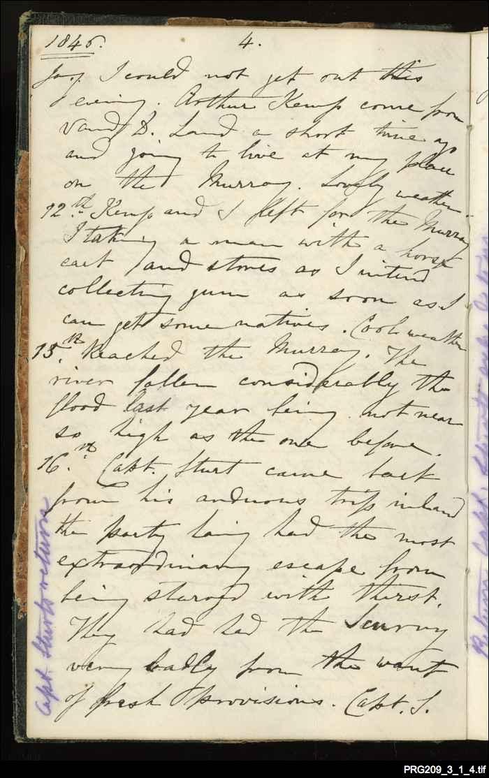 Hawker's diary