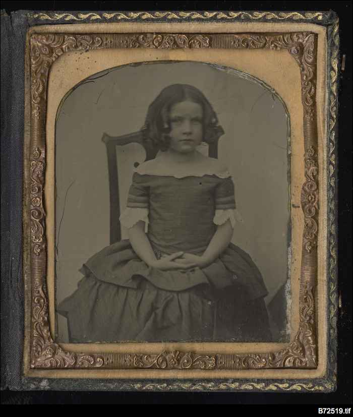 Tintype of an unknown girl