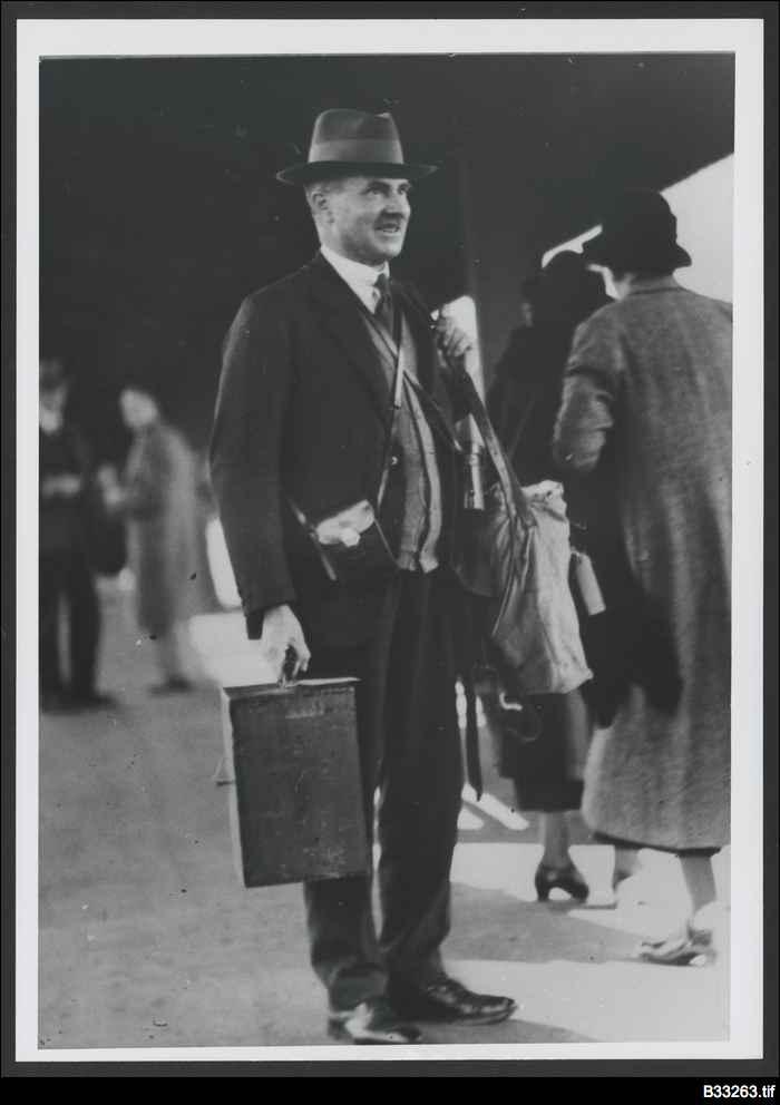 John Cleland at Adelaide Railway Station