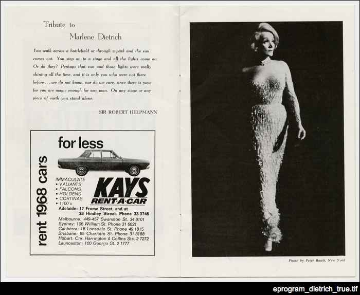 Marlene Dietrich, 1968