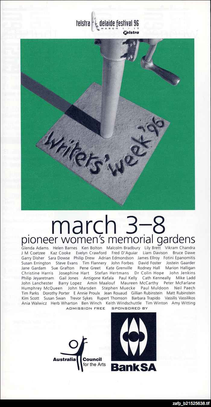 Writers' Week, 1996
