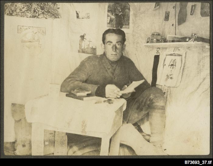 Interior of a Gallipoli dug-out