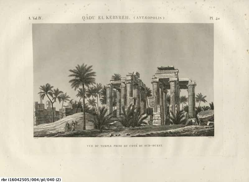 Description de l'Egypte : ou, Recueil des observations et des recherches qui ont ete faites en Egypte pendant l'expedition de l'armee francaise, publie par les ordres de Sa Majeste l'Empereur Napoleon le Grand