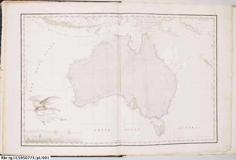 Maps from 'Voyage de découvertes aux terres australes'