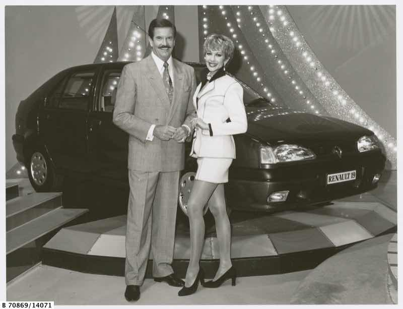 John Burgess and Adriana Xenides of Wheel of Fortune.