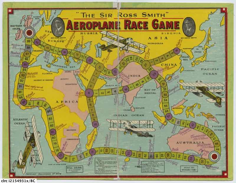 The Sir Ross Smith aeroplane race game
