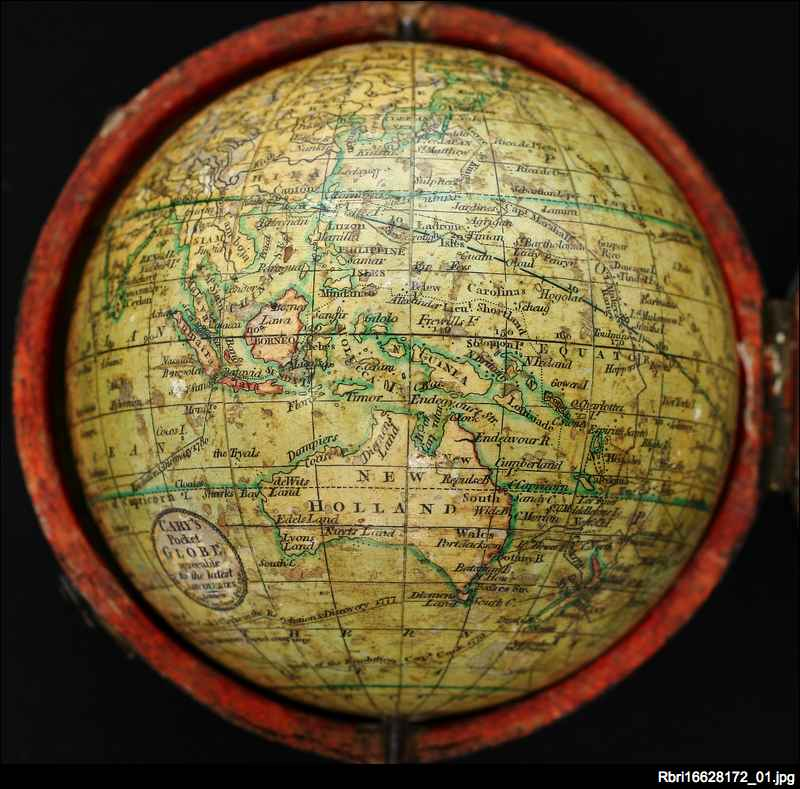 Cary's pocket globe agreeable to the latest discoveries