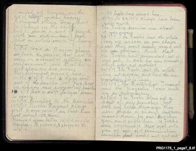 War diary of Arthur Oxer