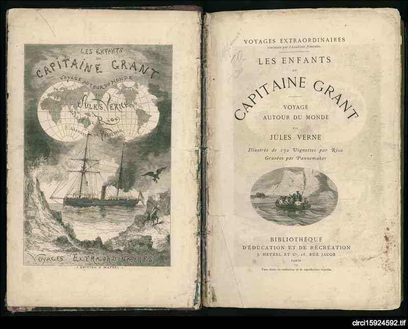 Les enfants du capitaine Grant: voyage autour du monde (Captain Grants' Children : A Voyage Round the World)