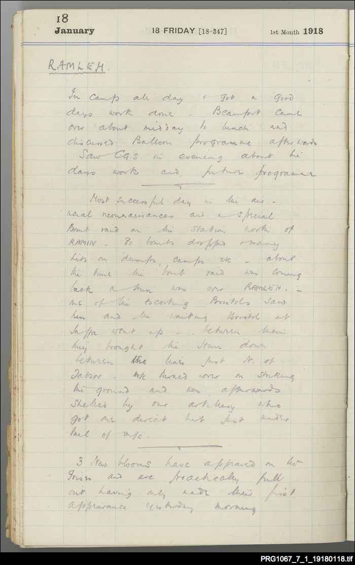 Journal kept by A.E. Borton