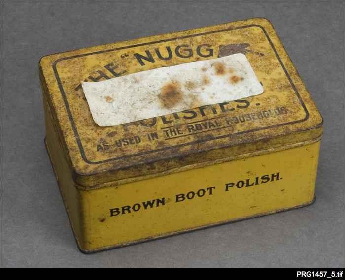 Boot polish tin